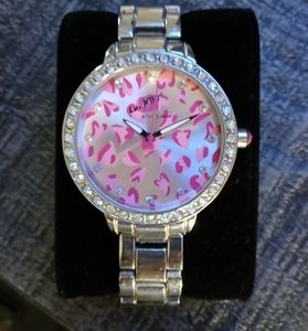 Betsy Johnson stainless steel watch